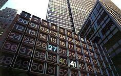 Famous Manhattan Landmark outdoor digital artwork by Rudolph de Harak Hotel Design Architecture, Architectural Sculpture, New York School, Nyc, Hotel Decor, Store Displays, Design Museum, My Favorite Part, Public Art