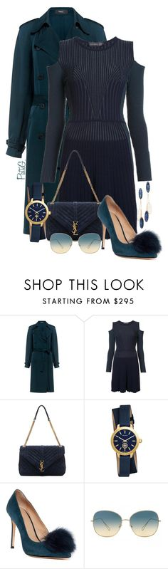 """""""THEIA"""" by patigshively on Polyvore featuring Theory, Versace, Yves Saint Laurent, Tory Burch, Pour La Victoire, Oliver Peoples and Theia Jewelry"""