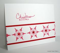 Simplicity: A Final Red Snowflake Card and Some Comments