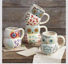 Cute owl mugs.