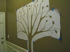 Ideas Family Tree Photo Wall Design For 2020 Family Tree Mural, Make A Family Tree, Family Tree Photo, Photo Tree, Tree Wall Painting, Tree Wall Murals, Mural Painting, Diy Painting, Wall Art