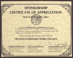 Certificate appreciation sponsorship sample images certificate certificate of appreciation sponsor sample image collections sample of certificate of appreciation for sponsorship images sample yadclub Images