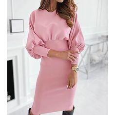 LightInTheBox - Παγκόσμιες Online Αγορές για Φορέματα, Σπίτι & Κήπος, Ηλεκτρονικά Προϊόντα, Ένδυση Γάμου Robe Bodycon, Bodycon Dress With Sleeves, Sheath Dress, Casual Dresses For Women, Clothes For Women, Dress Casual, Woman Dresses, Women's Casual, Casual Fall