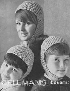 Womens, Boys and Girls Hat PDF Knitting Pattern : Scooter Style Helmet . MOD . DK . Instant Digital Download by PDFKnittingCrochet on Etsy