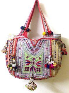 Vintage banjara bag boho gypsy tribal ethnic tote by ROYALEJAYPORE, $99.00