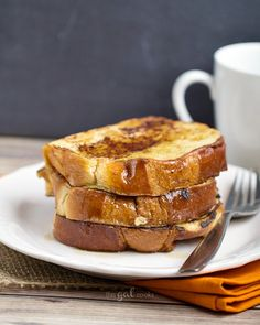 Coffee Creamer French Toast. Made with pumpkin spice coffee creamer but you can use your favorite flavor!