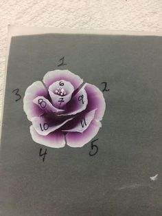 Drawing Ideas Step By Step Flowers One Stroke 29 Ideas - Painting Techniques Uñas One Stroke, One Stroke Nails, One Stroke Painting, Rose Nail Art, Rose Art, Flower Nail Art, Rose Nails, Art Floral, Nail Art Designs