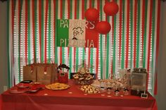 Best kids party idea ever! Pizza party! The kids get to decorate their own pizzas too and eat them!