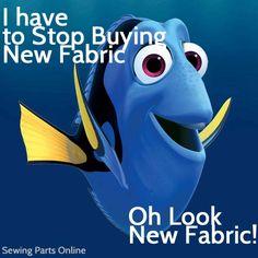 http://www.sewingpartsonline.com/ The struggle of every sewists - fabric addiction. #funny #meme #fabricaddictionisreal