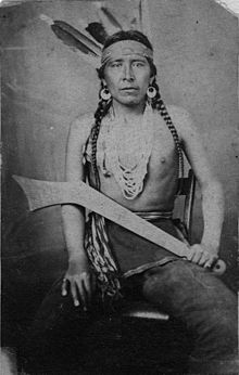 Big Eagle (Dakota: Waŋbdí Tháŋka, c. 1827-1906) was the leader of a band of Mdewakanton Dakota Sioux in Minnesota. In 1862, he and his band joined Taoyateduta and took part in a Sioux uprising. He eventually surrendered. Despite his death sentence, and his tribal importance, President Lincoln pardoned Big Eagle in November 1864 and he was ordered released on December 3rd.