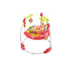 Rebondissez jusquà la lune et revenez, et ce, pendant une journée de jeu. Il y a tellement de choses que bébé peut découvrir avec les amis animaux adorables de ce Jumperoo - de la musique, des lumières et des sons captivants récompensent bébé avec chaque saut! Le siège rotatif donne à bébé un accès sur 360degrés aux jouets, aux activités et aux amis, y compris des fleurs douces accrochées, des éléments qui tournent, des perles qui cliquètent, une barre dactivités, un miroir et beaucoup…