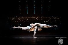Yves Décoste and Valentyna Sidenko. The two balance on one another, slowly moving from one position to the next, completely defying gravity ...