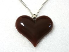 Carnelian Heart Necklace! Only $14! Beautiful vintage item! Nickel free chain! Find them in Limited Edition Vintage at thenchantedforest.ca