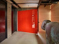 Image 17 of 36 from gallery of Whistler Ski House / Olson Kundig. Photograph by Benjamin Benschneider Whistler, Cabin Design, House Design, Jackson Hole Skiing, Ski Rental, Glazed Walls, Concrete Fireplace, Tree Canopy, Mountain Homes