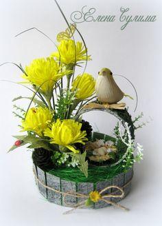 Add to Bring Spring Easter Flower Arrangements, Easter Flowers, Floral Arrangements, Faux Flowers, Diy Flowers, Ikebana, Deco Floral, Floral Design, Hobbies And Crafts