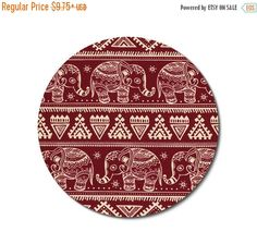 SALE Mouse Pad mousepad / Mat Rectangle or round boho by Laa766 chic / cute / preppy / computer, desk accessories / cubical, office, home decor / co-worker, student gift / patterned design / match with coasters, wrist rests / computers and peripherals / feminine touches for the office