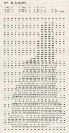 Canadian ancestry in New Hampshire (1977) | von Eric Fischer #graphic #designinspiration