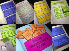 A fraction interactive notebook with 18 different activities!