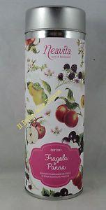 NEAVITA-Infuso-FRAGOLA-e-PANNA-100g-in-scatola-latta-mela-karkade-rosa-canina