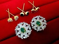 Daphne 8 in One Changeable AD Earrings for Women – Ruby, Emerald, Blue Sapphire, Diamond – Buy Indian Fashion Jewellery Women's Earrings, Diamond Earrings, Crochet Earrings, Emerald Blue, Blue Sapphire, Jewelry Ads, Fashion Jewelry, Imitation Jewelry, Send Gifts