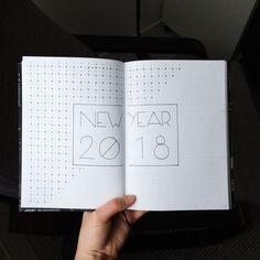 Bujo Bullet Journal Inspiration Future Log New Year 2018 Doodling