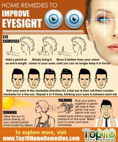 Home Remedies to Improve Eyesight. Improve your vision with these top 10 home remedies. #eyesight #top10homeremedies