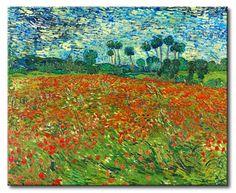 MU_VG2058 t_Van Gogh _ Poppy field / Cuadro Paisaje, Campo de Amapolas