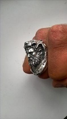 Solid Silver Hercules ring (5.6ozs) by Maverick Dreams