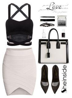 """SheIn 3"" by scarlett-morwenna ❤ liked on Polyvore featuring Yves Saint Laurent, Essie, Sue Devitt, Chanel and Nest"