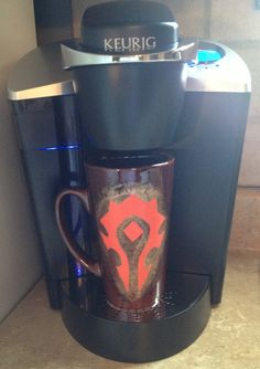 World of Warcraft Inspired Horde Coffee Cup on Etsy, $17.00