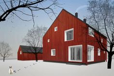 Nice modern version of a classic Finnish timber house