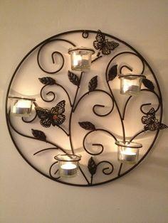 Tea light candle holder wall decor