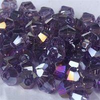 ВЫСОКОЕ качество 3 мм 1000 шт. AAA Bicone Высококлассные Австрийские кристаллы бисер #5301 Фиолетовый AB для Изготовления Ювелирных Изделий DIY