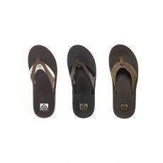 De @reefusa Leather Fanning slippers voor heren zijn leren #slippers met heerlijk zacht voetbed. Nu bij de Wit.