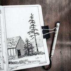 Sketchbook inspiration, art sketchbook, create drawing, urban sketching, no Copic Drawings, Pencil Art Drawings, Sketchbook Drawings, Drawing Sketches, Ink Illustrations, Illustration Art, Nature Sketch, Sketchbook Inspiration, Urban Sketching
