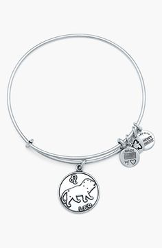 Free shipping and returns on Alex and Ani 'Leo' Adjustable Wire Bangle at Nordstrom.com. Representing dominant, extroverted and loyal personalities, a dainty zodiac charm dangles from an easily adjustable bangle. Mix and match multiple Alex and Ani styles for a playfully eclectic look.<br><br> Leo is a fire sign full of energy, passion and power. Confident, idealistic and a natural leader, the lion lives life with positivity and courage. A brave protector of those in need, Leo seeks to give…