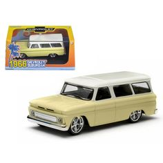 1966 Chevrolet Suburban Yellow 1/43 Diecast Car Model by Greenlight