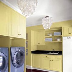 Lighting in the laundry room.