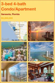 3-bed 4-bath Condo/Apartment in Sarasota, Florida ►$3,200,000 #PropertyForSale #RealEstate #Florida http://florida-magic.com/properties/9133-condo-apartment-for-sale-in-sarasota-florida-with-3-bedroom-4-bathroom