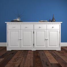 Dřevěná Komoda Korfu K4.4, borovice, masiv, bílá