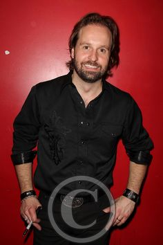 Alfie Boe backstage at Le Poisson Rouge on May 7, 2012 ..