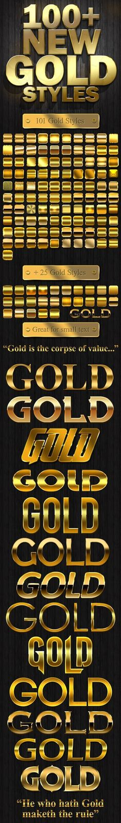 Now you can apply amazing Gold and Silver nuances to your texts and your banners on Adobe Photoshop by using the best of gold and silver styles. You can download them in .zip format and extract them before applying to your creations. They save you tons of time each time you want to apply a distinct gold or silver tone to your Photoshop file.