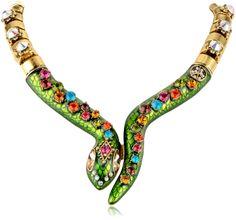 "Amazon: Betsey Johnson ""St. Barts"" Snake Necklace, 20"": Jewelry"