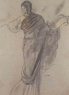 .:. Γύζης Νικόλαος – Gyzis Nikolaos [1842-1901] Σπουδή για την επιστήμη_1 Drawing Sketches, Art Drawings, Sketching, Greek Paintings, 10 Picture, Scribble, Pictures, Painters, Greece