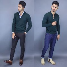 classy mens fashion which look gorgeous. Mens Fashion Sweaters, Mens Fashion Suits, Business Casual Men, Men Casual, Smart Casual, Casual Styles, Teaching Mens Fashion, Fashion Moda, Men's Fashion