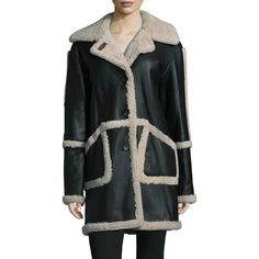 52c0d55cb888c Dominic Bellissimo Colorblock Shearling Coat (62.115 RUB) ❤ liked on Polyvore  featuring outerwear