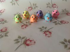 Pack of Six Little Bird Charms (Polymer Clay). $7,00, via Etsy.