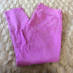 J Crew Purple J Crew Toothpick Jeans Excellent condition! Beautiful purple lavender pastel! J. Crew Jeans Ankle & Cropped