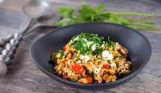 Oven-baked Tomato Risotto | Good Chef Bad Chef (use vegetable stock and sub vegan feta)
