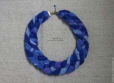 """Колье, бусы ручной работы. Ярмарка Мастеров - ручная работа. Купить Колье """"Синее море"""". Handmade. Синий, небо"""